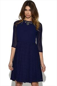 Little Mistress 2 in 1 Embellished Dress