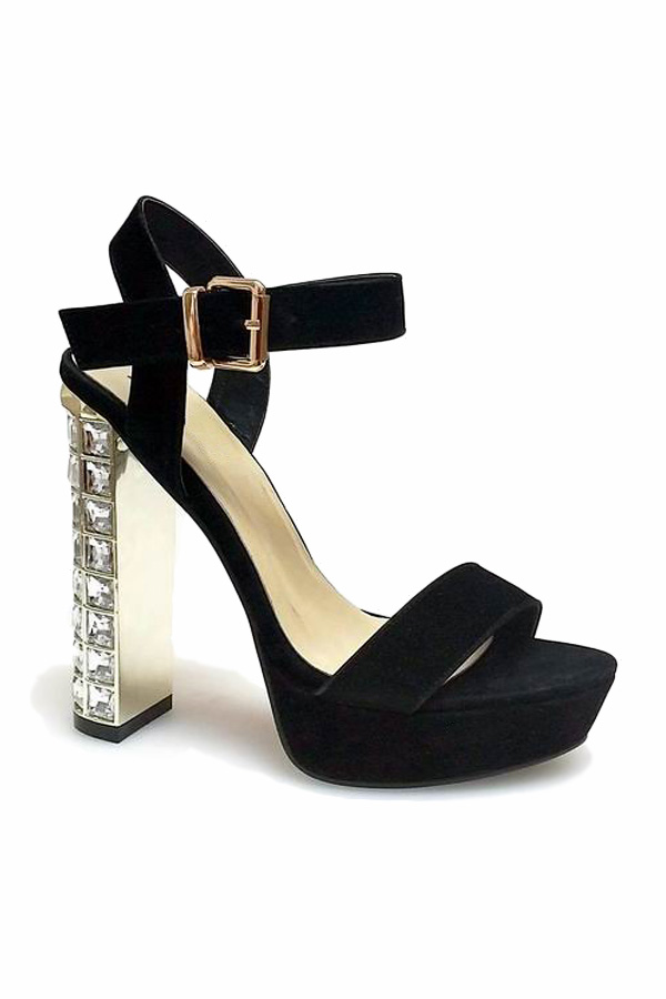 Jewel Heel Platform Sandals