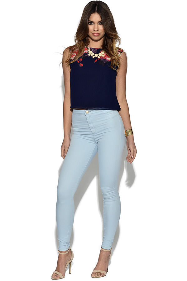 Light Blue Wash Stretchy Jeggings