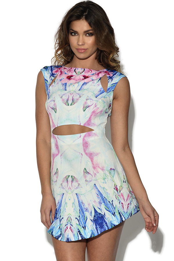 Ginger Fizz Impressionist Dress
