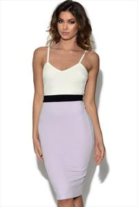 AX Paris Strappy Colour Block Bodycon Dress