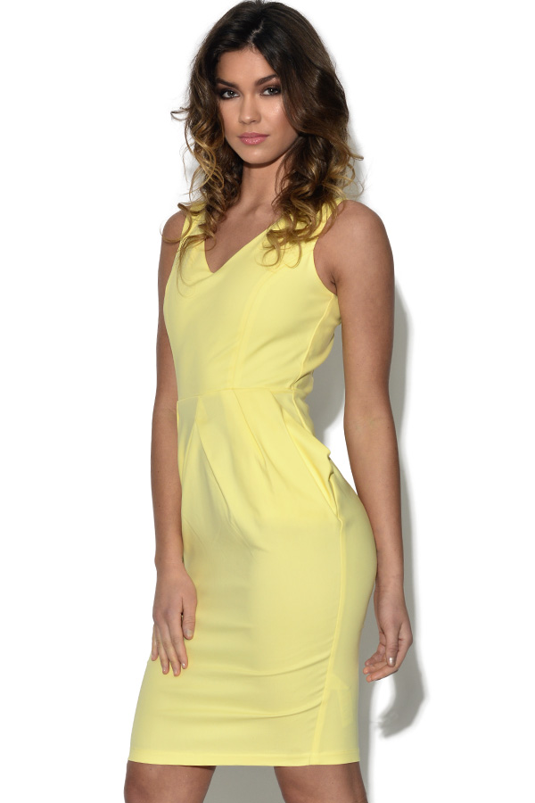Paper Dolls Lemon Structured Dress