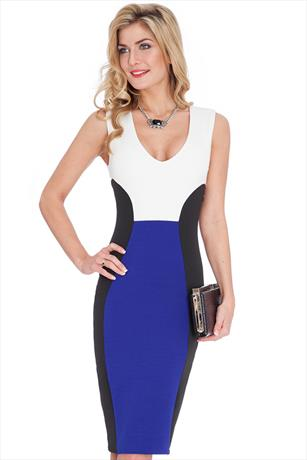 Contrast Illusion Dress