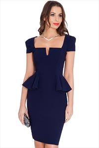 Ultra Flattering Peplum Dress