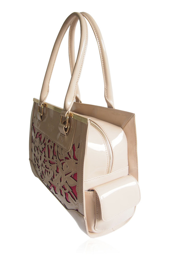 Willow Cream and Fuchsia Shoulder Bag