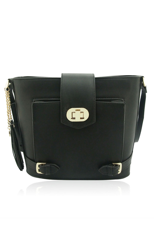 Evie Buckle Detail Shoulder Bag