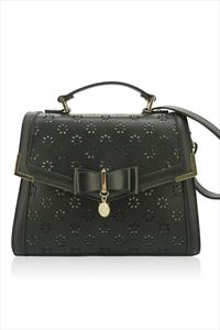 Daisy Laser Cut Floral Shoulder Bag
