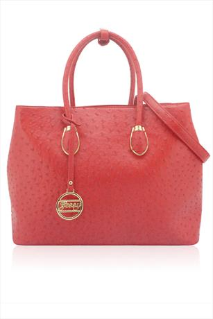Marcela Ostrich Effect Tote Bag
