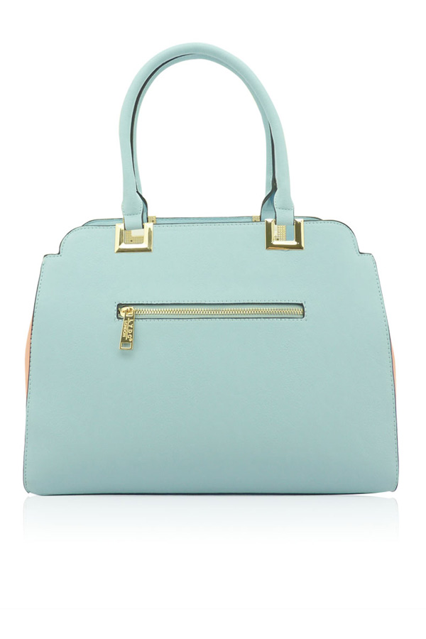 Ria Pastel Pink and Blue Tote Bag