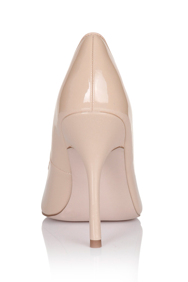 Paper Dolls Patent Pointed Court Shoe