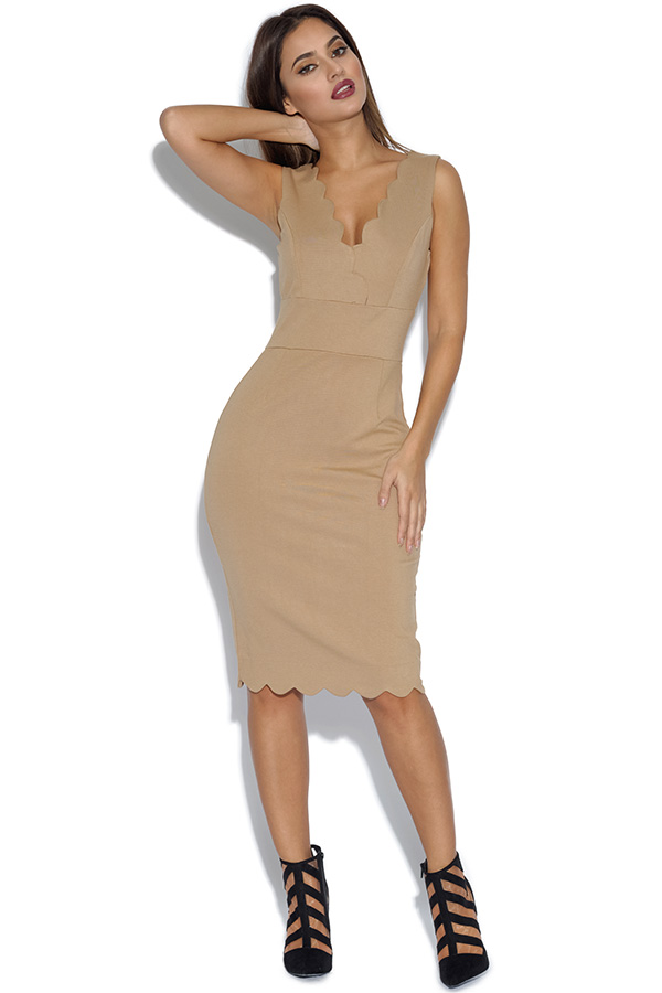 Flattering Scalloped Bodycon Dress