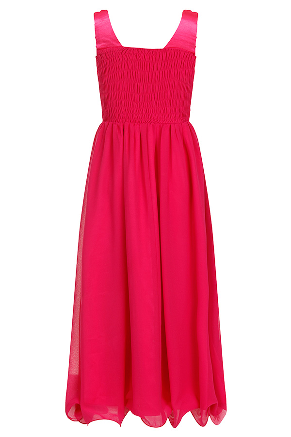 Little MisDress Pink Embellished Strap Dress