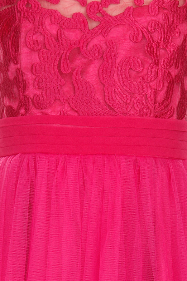 Little MisDress Pink Baroque Embroidered Dress