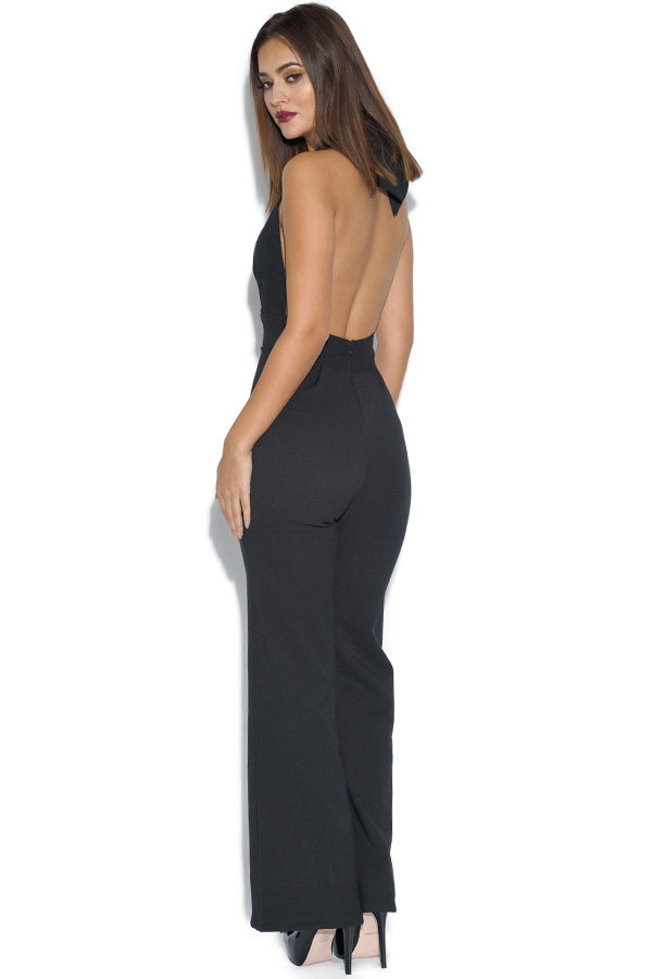 Open Back Halterneck Jumpsuit
