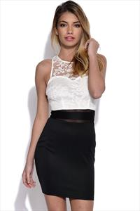 AX Paris Lace Top Bodycon Dress