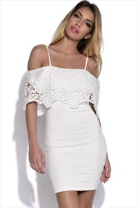 AX Paris Crochet Overlay Bodycon Dress