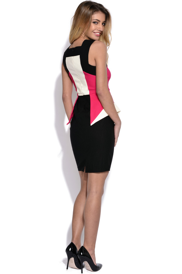 Vesper Peplum Colourblock Dress