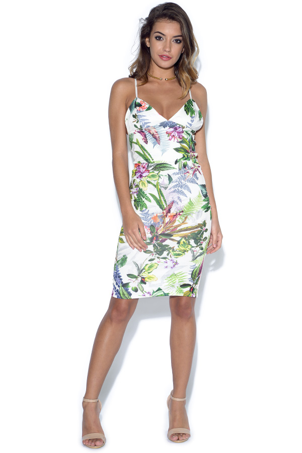 Tropical Print 2 Piece Skirt Set