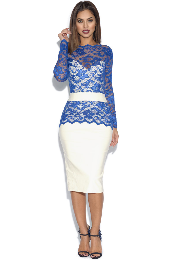 Tempest Two Tone Billie Lace Midi Dress