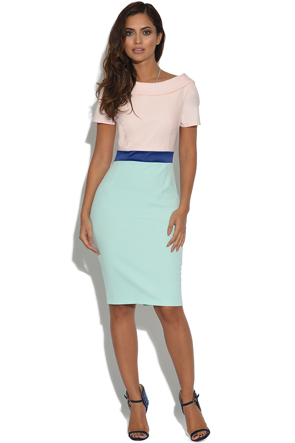 Vesper Brodie Midi Pencil Dress Mint