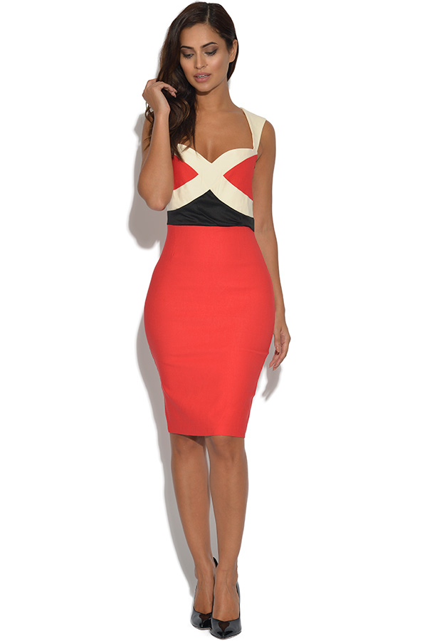 Vesper Taffi Colourblock Bodycon Dress