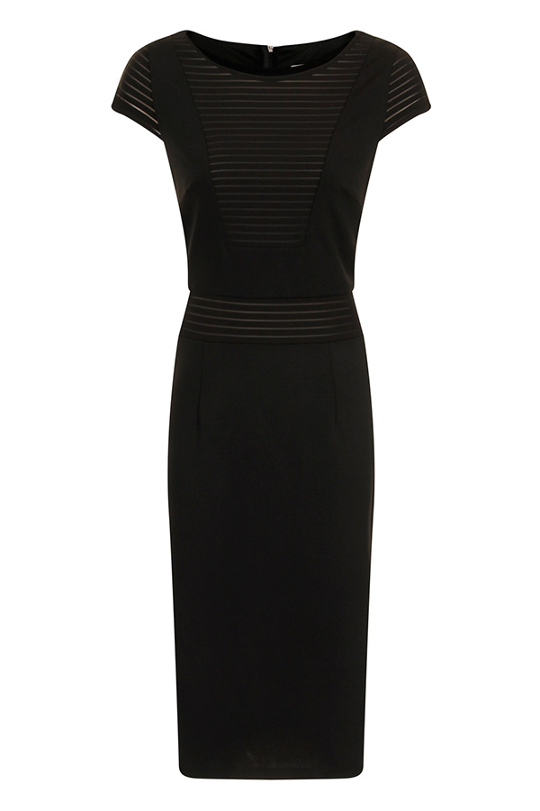 Paper Dolls Black Mesh Bodycon Dress