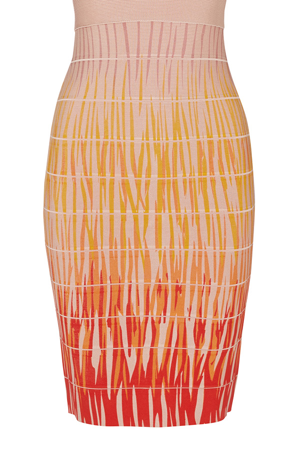 Luxe Sunset Bandage Dress