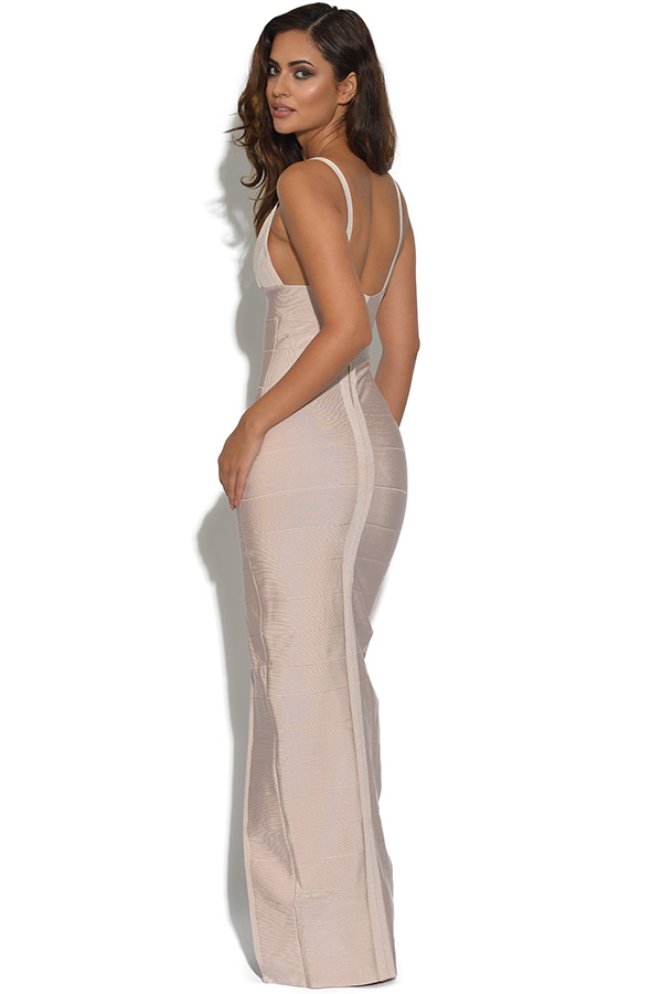 Luxe Nude Bandage Maxi Dress
