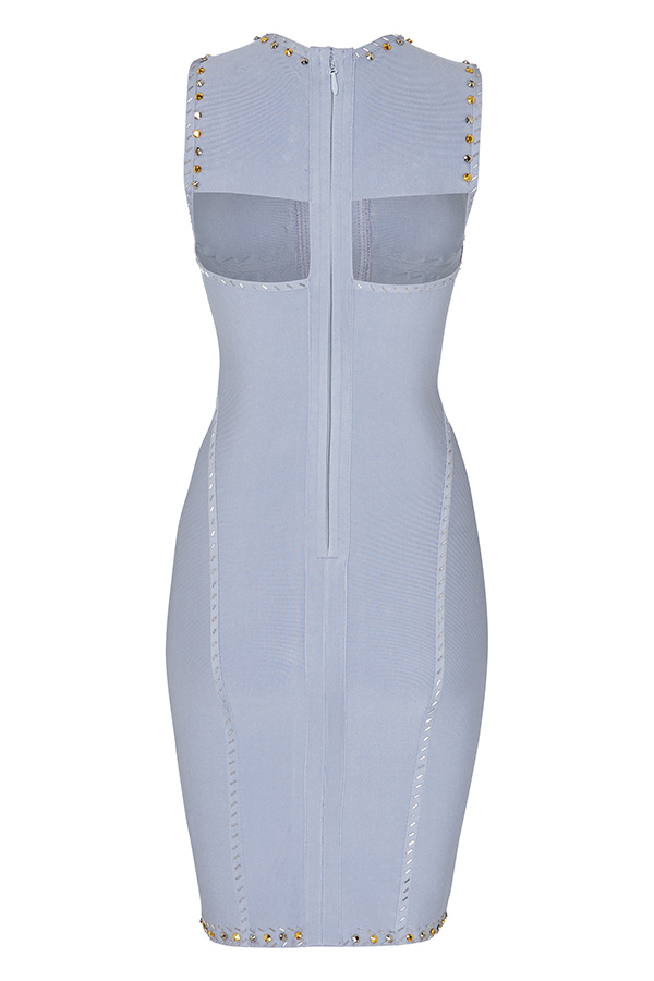 Luxe Studded Cut Out Bandage Dress