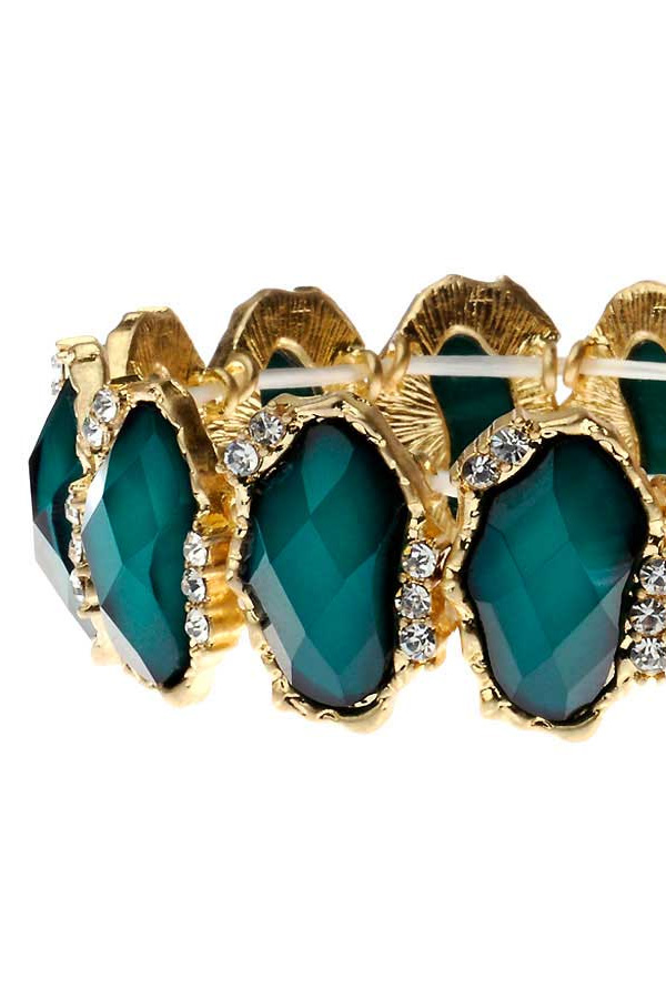 Emerald Green Jewel Bracelet
