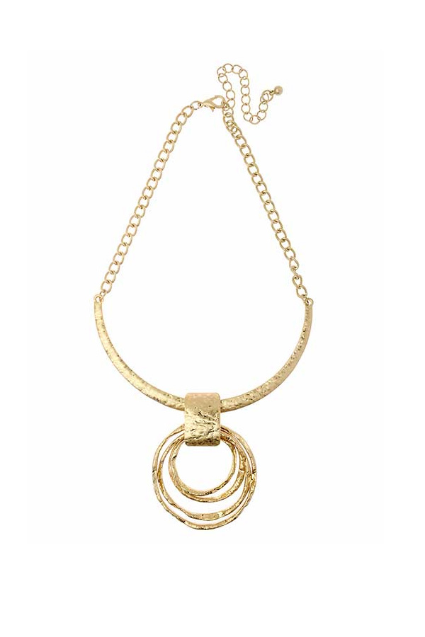 Statement Worn Ring Necklace