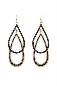 Black Jewelled Earrings