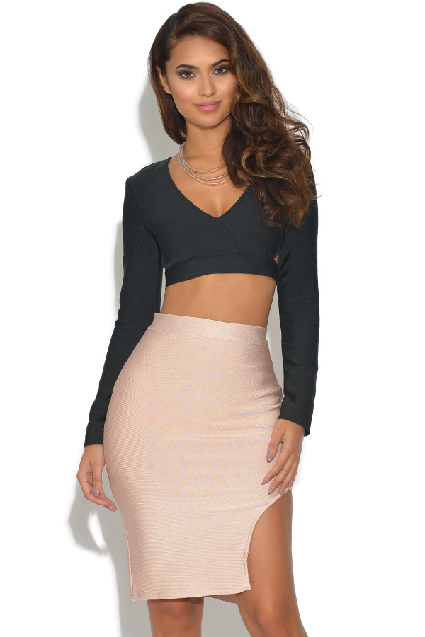 1362b3aa28 2 Piece Co Ord Bandage Top and Skirt Set