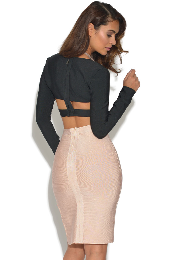 2 Piece Co Ord Bandage Top and Skirt Set
