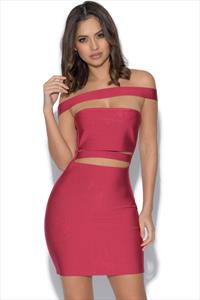 Cut Out Detail Strappy Bandage Dress