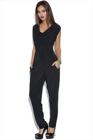 Ruched Neck Jumpsuit