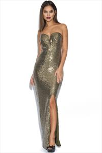 Gold Sequin Luxe Maxi Dress