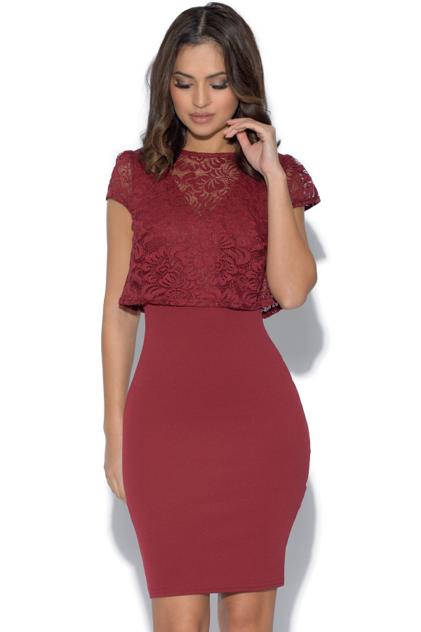 Jessica Wright Berry Lace Dress