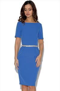 Paper Dolls Blue Jewel Waist Dress