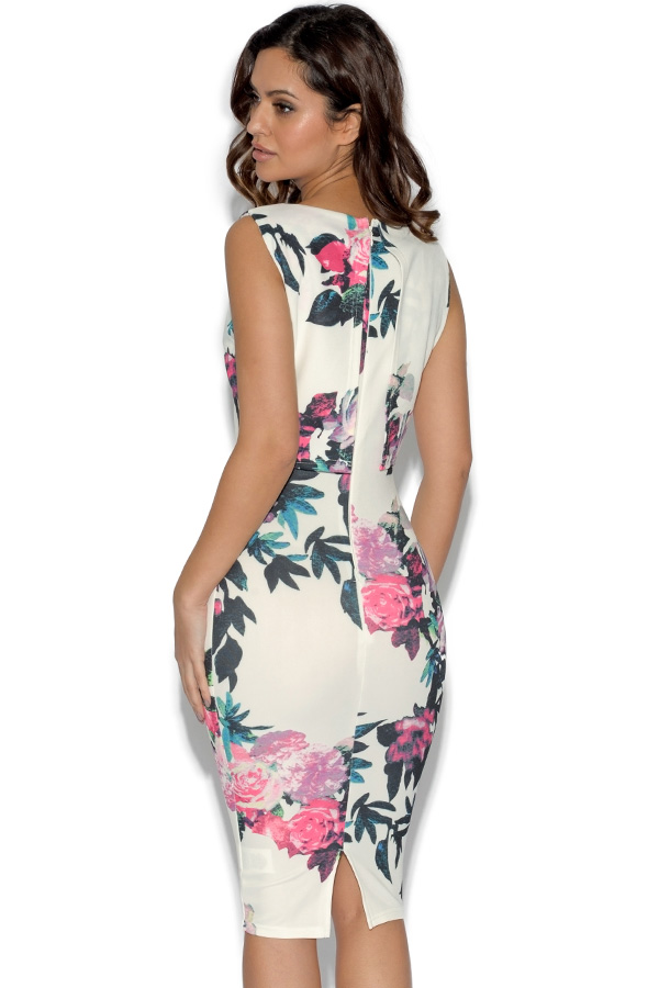 AX Paris Cropped Overlay Floral Dress