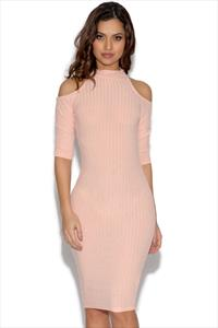 AX Paris Cut Out Knitted Bodycon Dress
