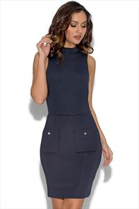 Navy Scuba Bodycon Dress
