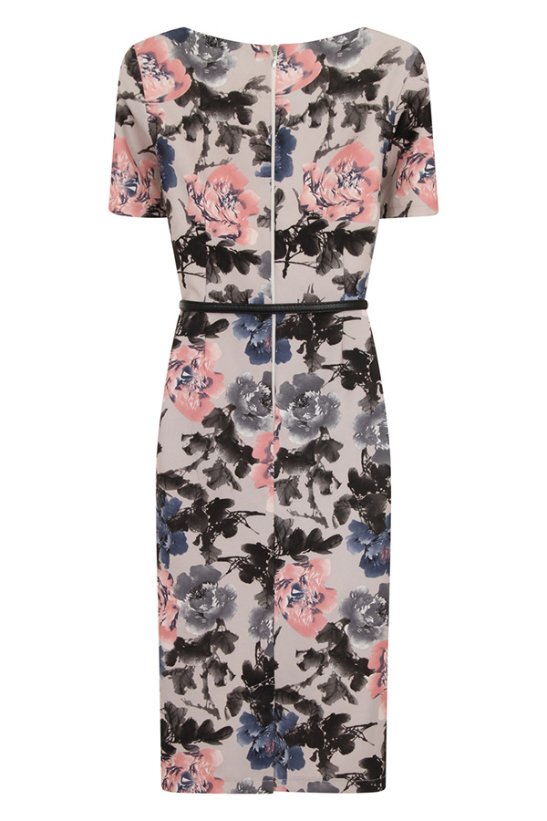 Paper Dolls Grey Rose Print Kimono Sleeve Dress