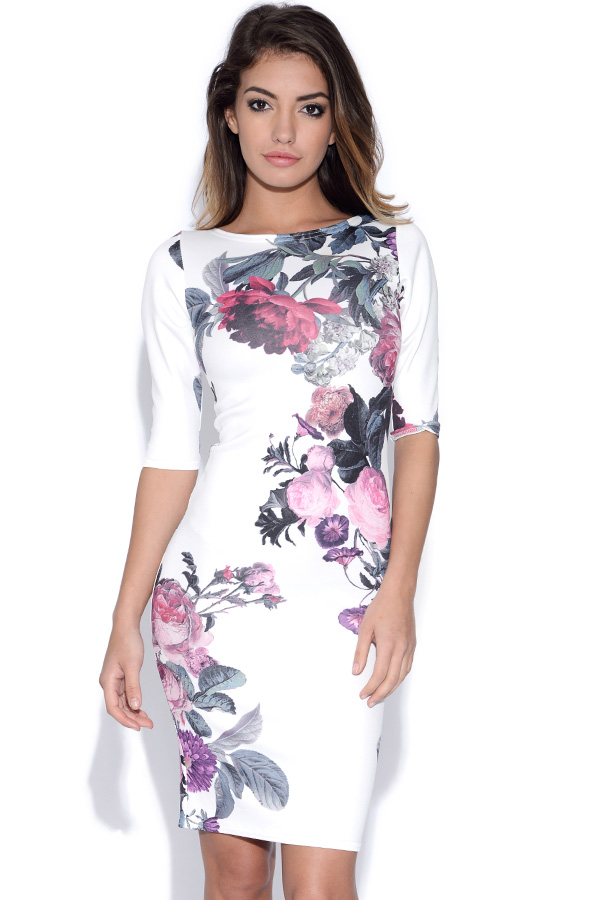 Vestry | Pretty Floral Print Bodycon Dress at Vestry