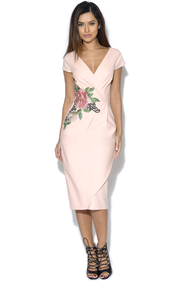 Paper Dolls Blush Rose Applique Dress