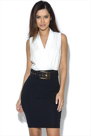 AX Paris Belted Bodycon Dress