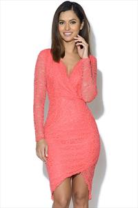 AX Paris Long Sleeve Lace Crochet Dress
