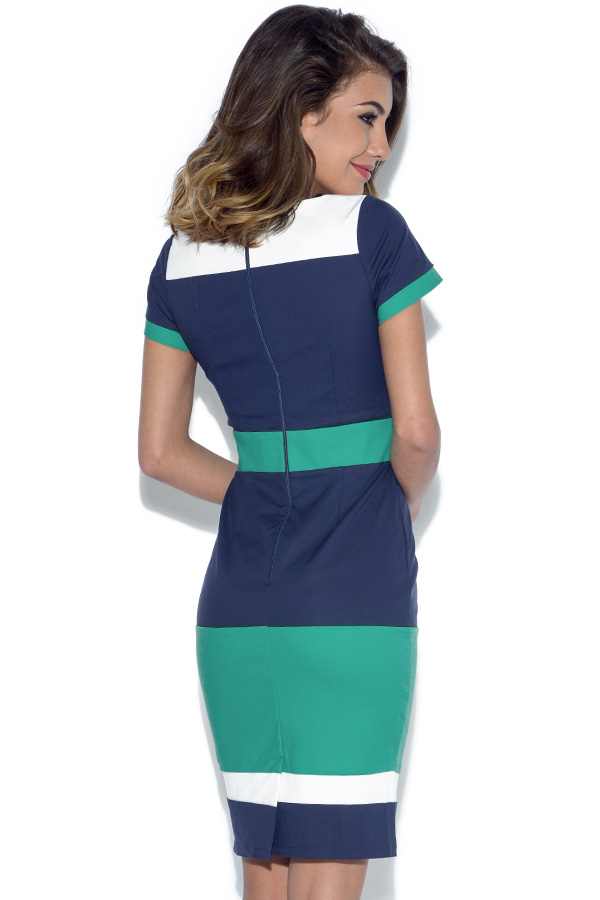 Paper Dolls Tri Colour Panel Dress