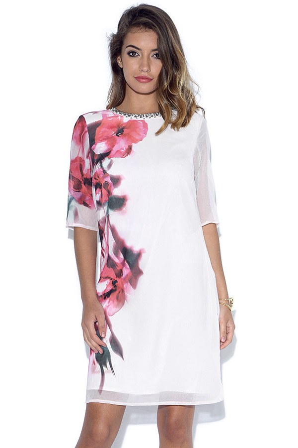 Little Mistress Blur Print Shift Dress