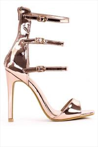 Rose Gold Multi Strap Sandals